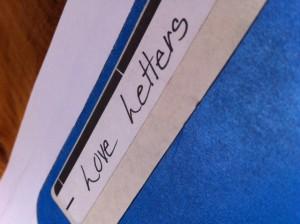 Love Letters File Folder