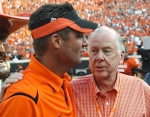 Mike Gundy and Boone Pickens