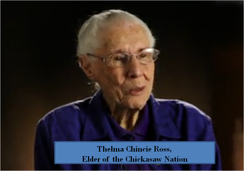 Chincie Ross Chickasaw Elder
