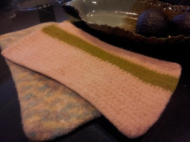 Felted Hot Pads from the Market